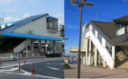 白岡駅と新白岡駅(左)